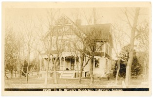 The residence of E. R. Brown, an Eskridge druggist, is seen in this Zercher real photo postcard and bears a 1914 postmark.