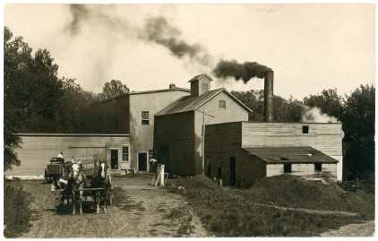 This real photo postcard view of the Louis Palenske's flour mill at Alma, Kansas dates from about 1910.