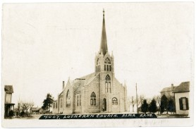 St. John Lutheran Church, located at 218 W. 2nd Street in Alma is seen in this J. Bowers real photo postcard, circa 1910.