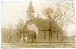 This real photo postcard by C. U. Williams, circa 1910, shows the Alma Congregational Church located at the corner of 7th and Ohio Streets.