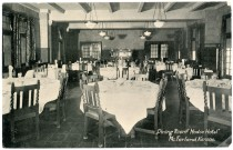 This photo postcard, dated 1915, shows the interior of the dining room of the Modoc Hotel, owned by the Rock Island Railway at McFarland, Kansas.