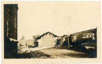 The Paxico depot for the Chicago, Rock Island & Pacific Railway was located on the north side of the main tracks, as seen in this Zercher photo, circa 1910.