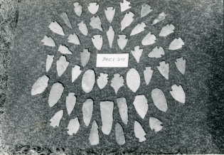 Carl Hoots photographed this group of artifacts found at the Price Site on Norfork Lake.