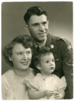 Fred and Mary Jean Meditz pose with their daughter, Teresa, in this view from Germany, circa 1955.