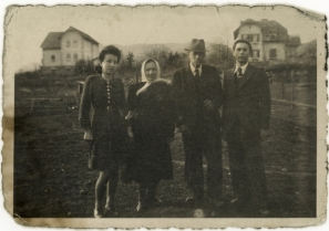 Friedrich Meditz, far right, poses in Buchel with his parents, Johann and Josefa Meditz, and his sister, Anne, circa 1940.