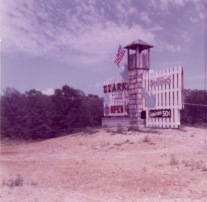 The sign tower at Ozarka Village, located on North Highway 63 held the only highway signs for the tourist attraction which opened in 1970.