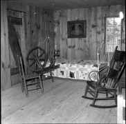 This photo from 1971 shows the west end of the cabin built by Carl Hoots at Ozarka Village.