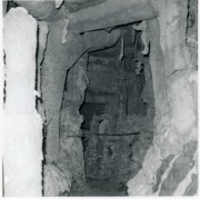 This view from early 1970 shows the cave under construction. The structure contained over 20 display cases containing Carl Hoots' arrowhead collection.