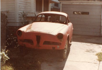This 1956 Alfa Romeo Sprint Veloce Lightweight was rough when I brought it home on a trailer, circa 1983.