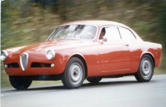 The 1956 Alfa was such an incredible pleasure to drive. This view was taken on the first day of driving the car; notice that I hadn't located windshield wipers at that point in time. Photo by Lynn Wilson.