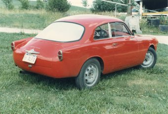 The original plastic rear window of this 1956 Alfa had turned a spooky milky-white color by the time I purchased the car in 1983.