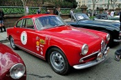 Stanley Bauer's 1956 Alfa Romeo Sprint Veloce is seen here at the 2018 California Mille event. Photo by Franklin Cunningham; Courtesy of AllCarCentral.com.