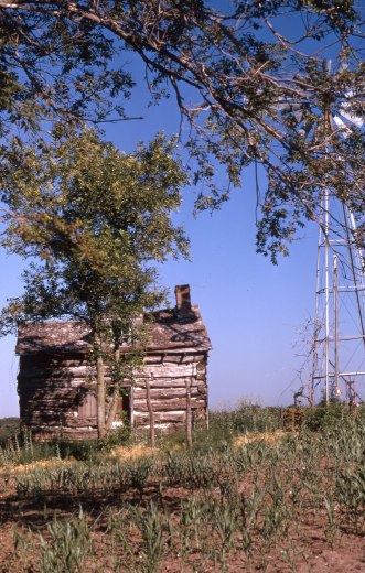 This Charles Herman photo from about 1980 shows the Gnadt cabin located in Park Valley, just east of Alma.