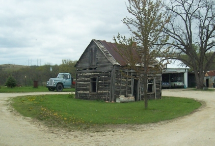 The Anton Kraus cabin, seen here in 2010, stood for over 150 years in Mill Creek Township.