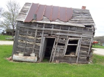 The Anton Kraus cabin in Mill Creek Township was listing badly when this photo was taken in 2010.