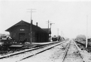 This Rock Island depot at Alma, Kansas was constructed in 1901 after the previous CRIP depot burned in February of that year. This depot burned to the ground on December 29, 1917.