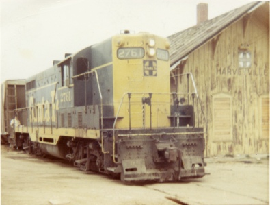 """Old Polly"", ATSF engine 2761, stops for the final time at the Harveyville, Kansas depot as the rail line closed in 1972."