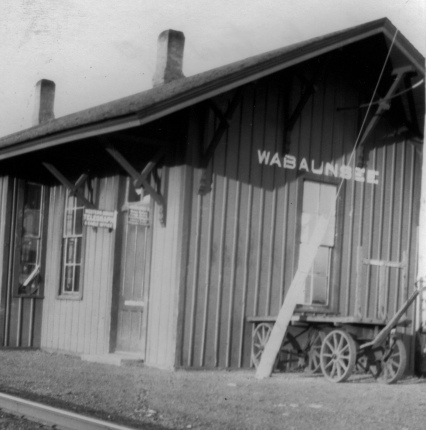 The CRIP depot at Wabaunsee, Kansas is seen in this photo, circa 1930.