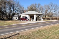 Lonnie Peoples owned and operated this station located on the north edge of Eskridge when the great gas station robbery occurred in 1931.