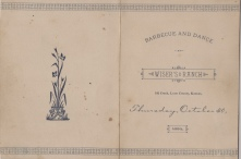 Harlow Wiser sent hundreds of engraved invitations to the opening of the new barn in 1884. (Image from the Ellen Coffman Collection courtesy Michael Stubbs)
