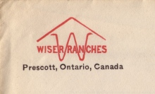 Logo and brand of the Wiser Ranches, Prescott, Ontario, Canada (Image from the Ellen Coffman Collection, courtesy Michael Stubbs)