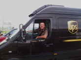 Greg Hoots is seen at the wheel of this 2003 Freightliner Sprinter.