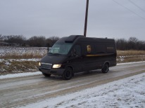 The last 2003 Freightliner Sprinter in Kansas is seen on an icy Wabaunsee County road in this view from 2010.