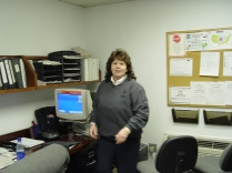 Nanette Martin is seen inside the Topeka package center dispatch office in this view.