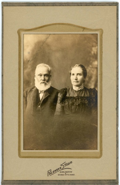 This studio portrait of Joseph and Augusta Thoes was created by their photographer son-in-law, Louis Palenske.