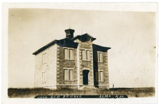 The old Alma high school was abandoned when this Bowers photo was taken in 1907.