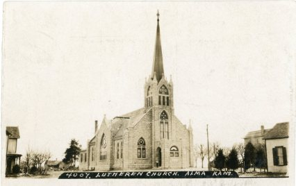 St. John Lutheran Church was almost new when this 1908 Bowers photo was taken.