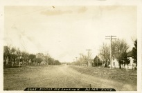 "This Bowers view of Kansas Avenue, looking north from the 300 block, was taken in about 1908. It's obvious why this street is commonly called ""the wide street"" by locals."