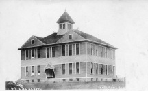 This 1907 view of the Maple Hill high school was taken by John Bowers.