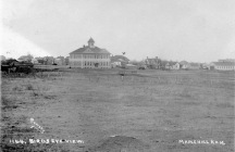 This 1907 view of the Maple Hill High School, looking from the west, was taken by photographer, John Bowers.