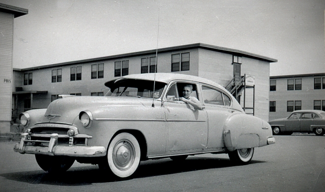 1957---DAVE IN HIS 1950 CHEVY