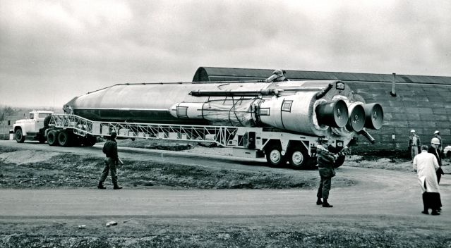 1961-- ATLAS MISSILE DELIVERED TO SITE AT FORBES AFB--site6