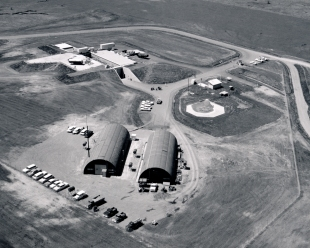 Dave Mathias took this aerial view of Site No. 6 at Keene, Kansas in 1961 as contractors continued to work on the site.