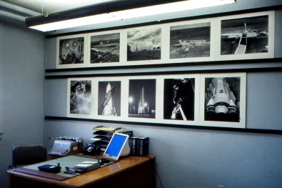 Dave Mathias' office at Schilling AFB afforded him the opportunity to display some of his work in this view from 1962.