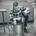 1962–SCHILLING AFB–DAVE MIXING CHEMICALS FOR FILM PROCESSING