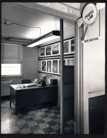This view of the office of Dave Mathias and the GDA photo lab at Schilling AFB is dated 1962.