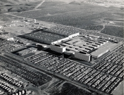 Dave Mathias took this aerial view of the General Dynamics Plant in San Diego in 1963.