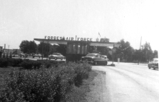 This view of the front gate of Forbes Air Force Base dates from the middle-1950s.