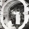 SAN DIEGO—2 MEN WORKING ON ATLAS AT GD ASTRONAUTICS–1964