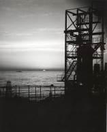 This view of the Point Loma Atlas test site was taken at sundown by photographer, Dave Mathias in 1964.