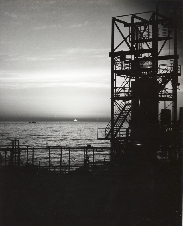 SAN DIEGO---POINT LOMA ATLAS TEST SITE AT SUN DOWN--1964