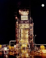 Dave Mathias photographed this night view of the Sycamore Canyon missile test site near San Diego in 1964.